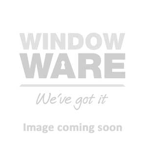 Kore Espagnolette Window Handle | Inline, Locking, 15mm Spindle, Smokey Chrome