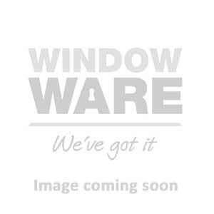 Kore Espagnolette Window Handle | Left Hand, Locking, 15mm Spindle, Brushed Satin Silver