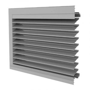 DUCO Grille Classic 50HP Glazed-in Window or Recessed Wall Louvre
