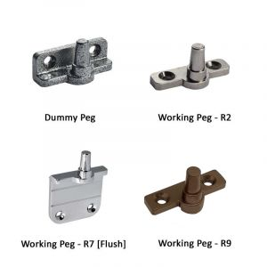 Regal Hardware Dummy & Working Window Stay Pegs - 2pk