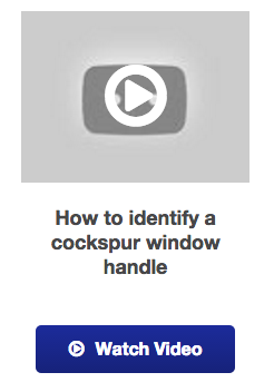 View our upvc cockspur window handle idenfication video