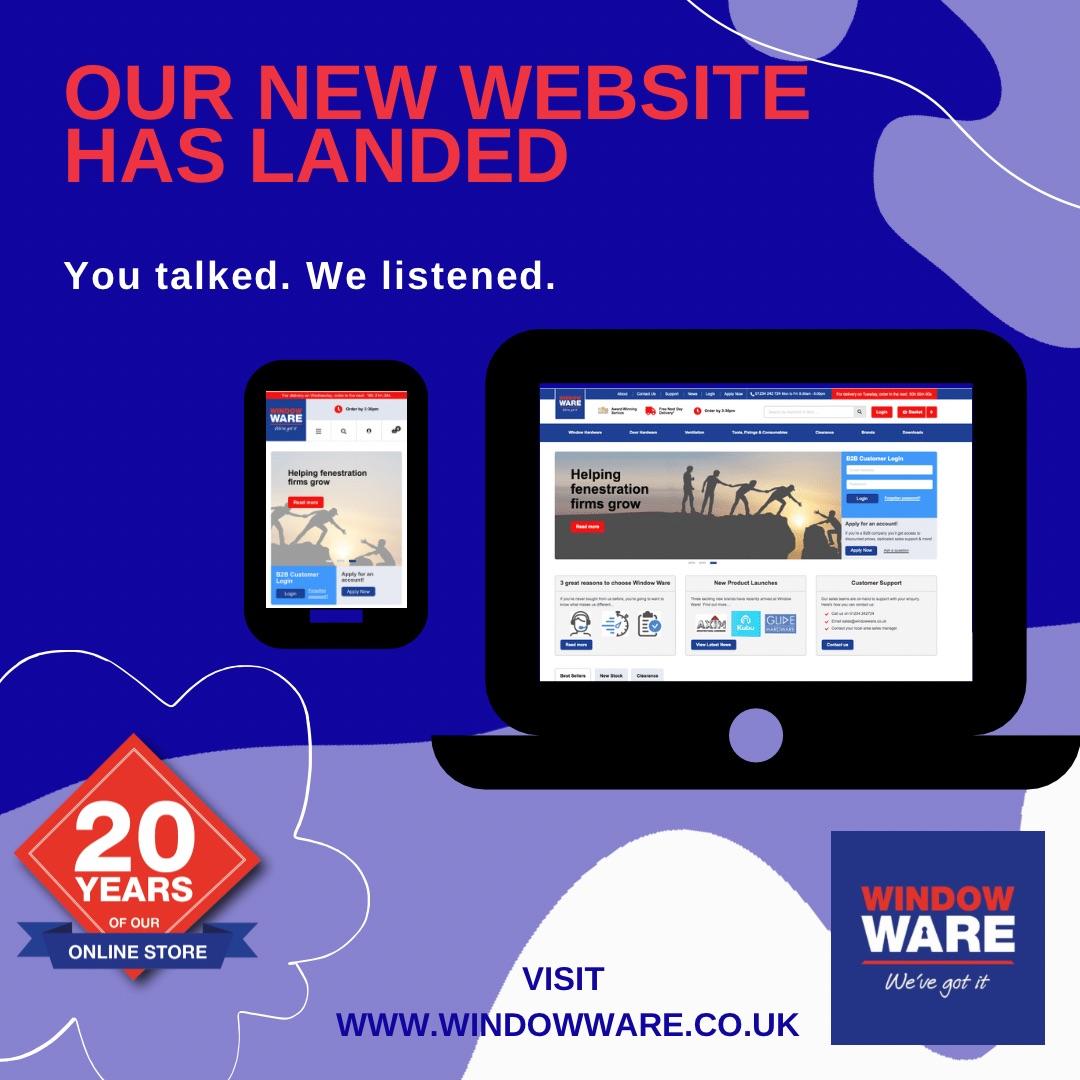 The New Window Ware website has landed